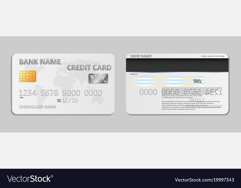 Stylish credit card design mockup Realistic White Bank Credit Card Template Isolated