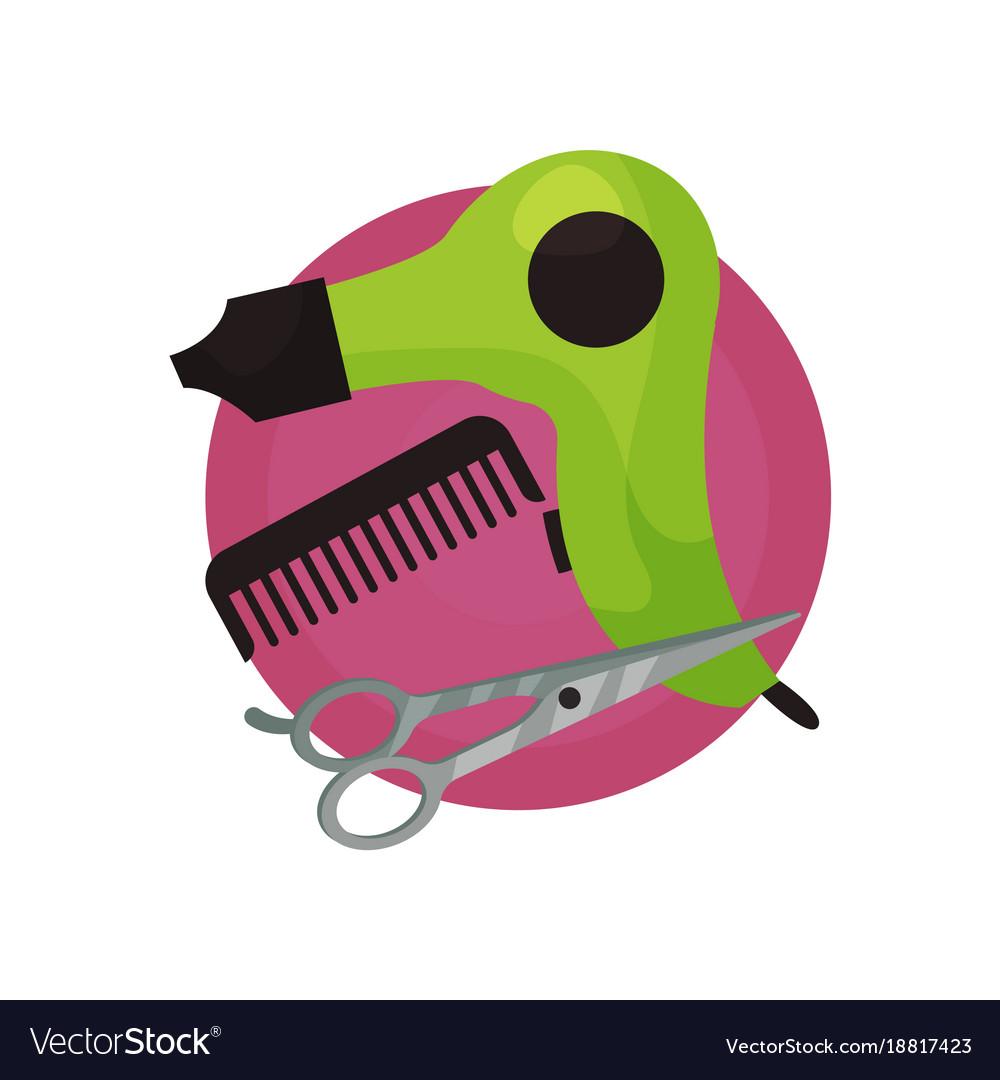 hairdresser icon hair dryer