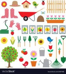 Gardening clipart Royalty Free Vector Image VectorStock