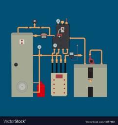 heat pump heating system vector image [ 1000 x 1080 Pixel ]