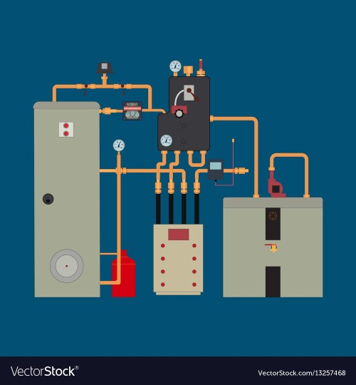 small resolution of heat pump heating system vector image