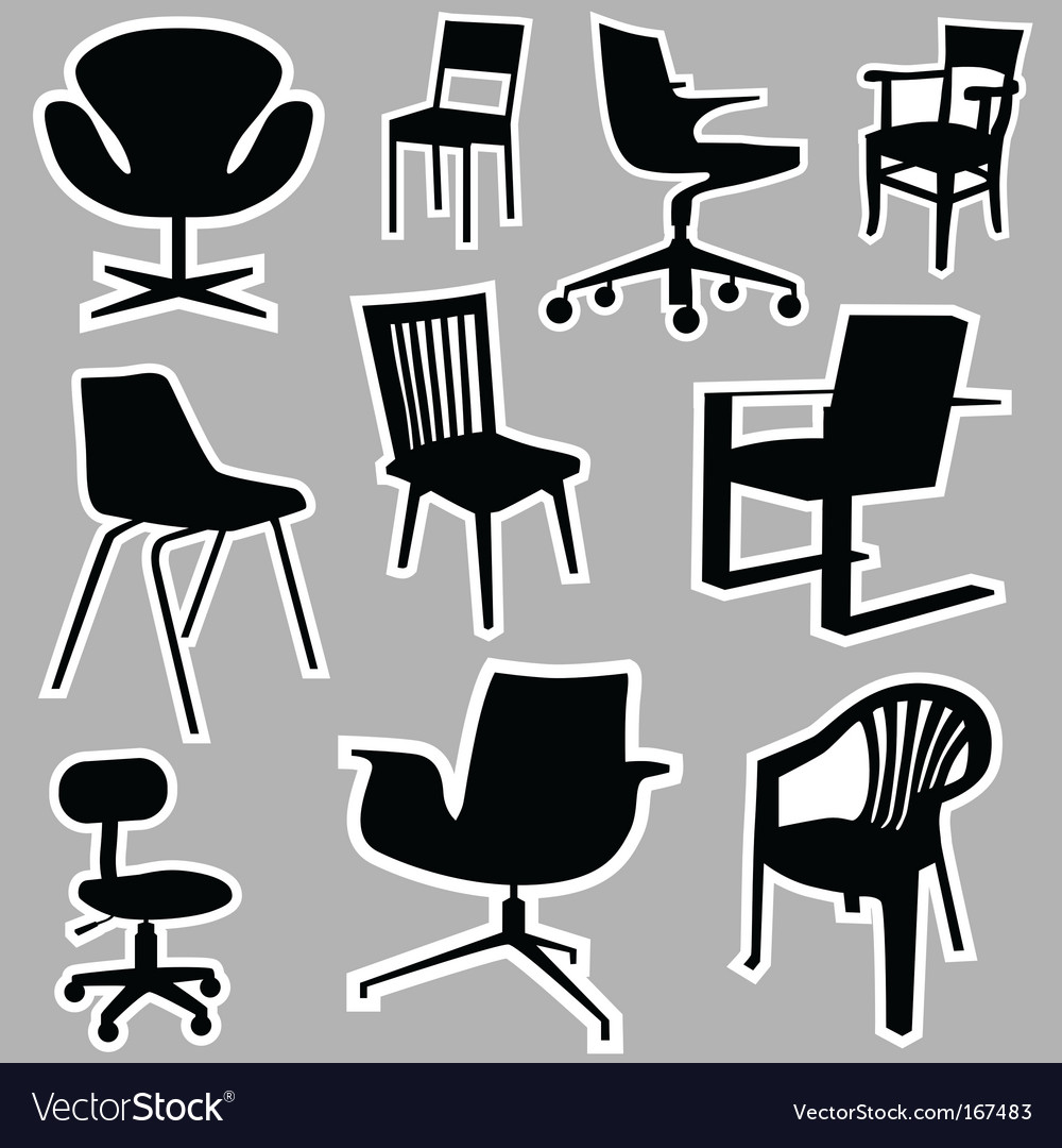 chair design icons rail tile border royalty free vector image vectorstock
