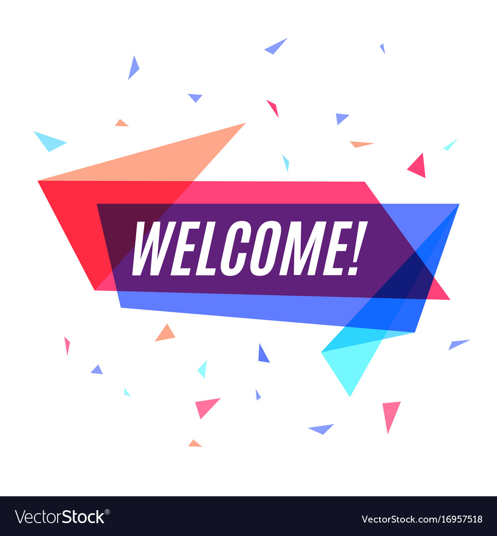geometrical colorful banner welcome