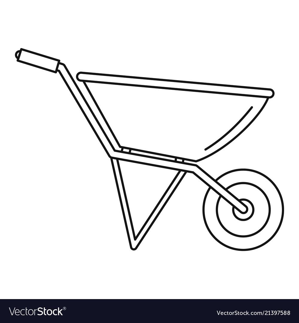 pic How To Draw A Simple Wheelbarrow vectorstock