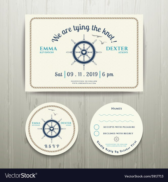 Nautical We Are Tying The Knot Wedding Invitation