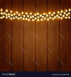 Lights on wood background Royalty Free Vector Image