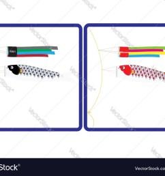 japanese koi fish flag for toilet sign vector image [ 1000 x 787 Pixel ]