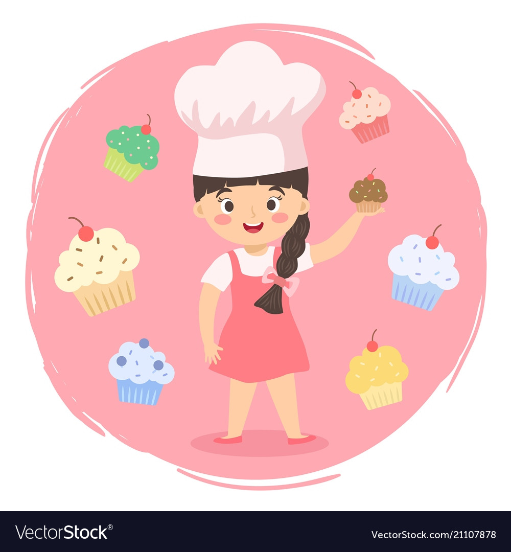 chef cupcakes girl cartoon