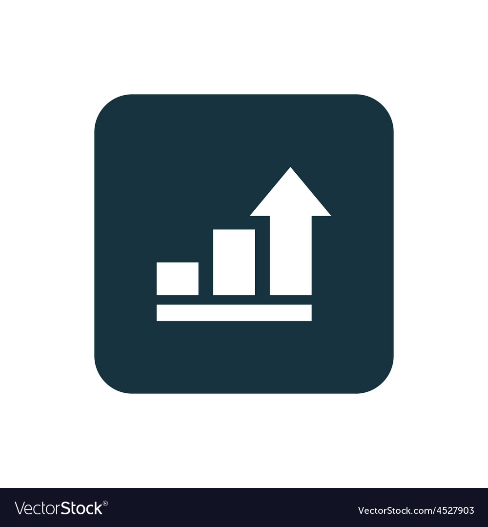hight resolution of business diagram chart icon rounded squares button vector image