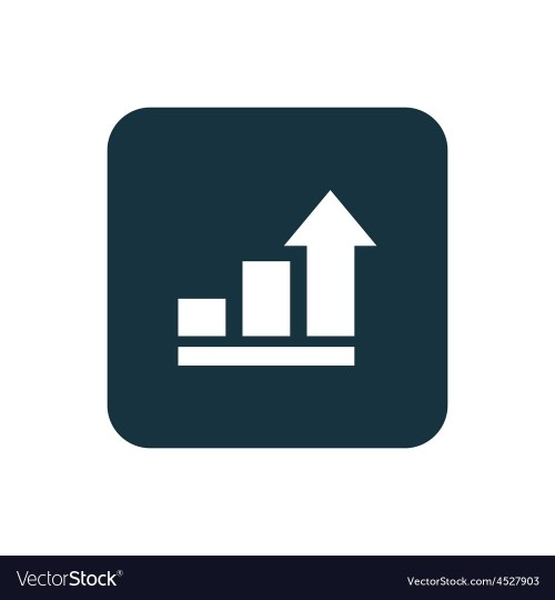 small resolution of business diagram chart icon rounded squares button vector image
