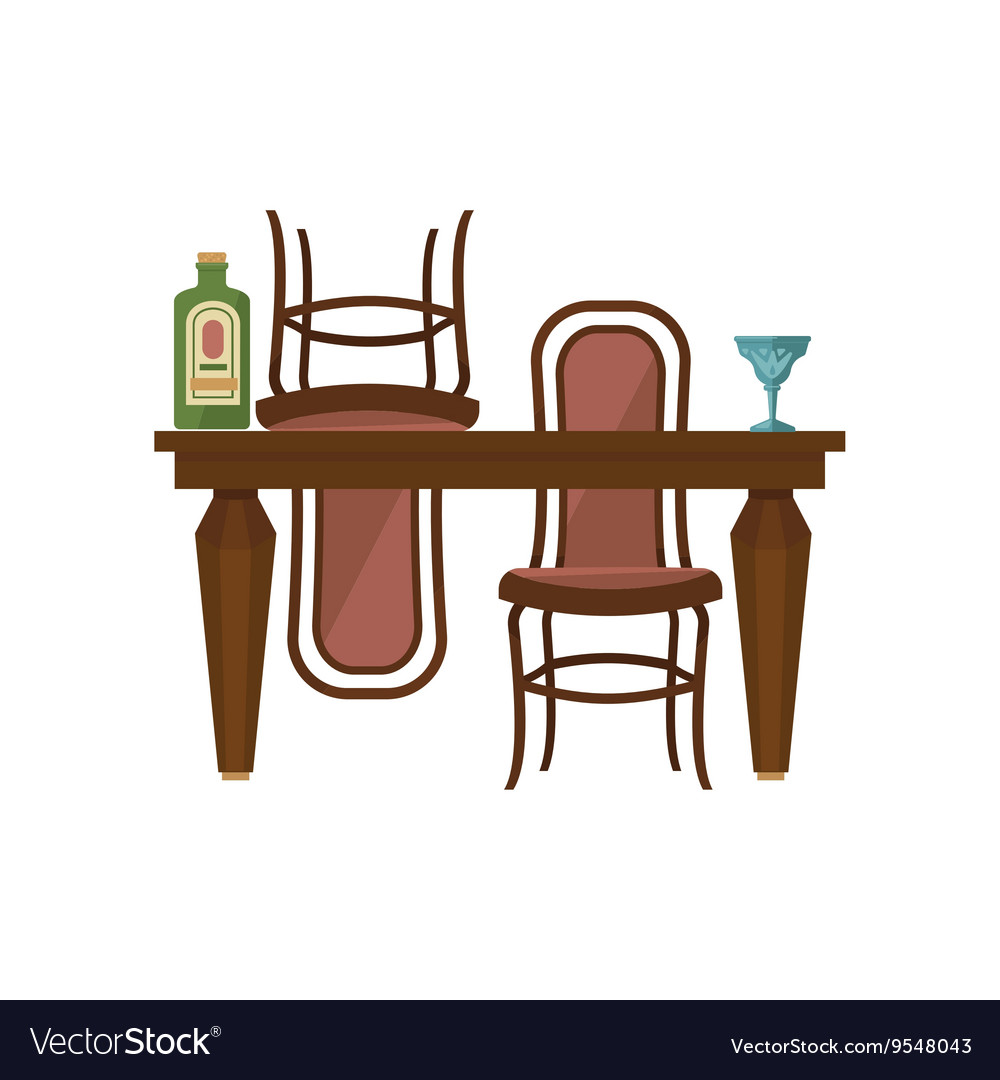 antique wooden chairs pictures outdoor chair and ottoman cushion sets dining table royalty free vector image