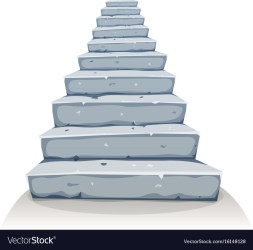 stairs cartoon clipart vector stone stairway illustration castle rock funny drawings clip drawing step line royalty construction