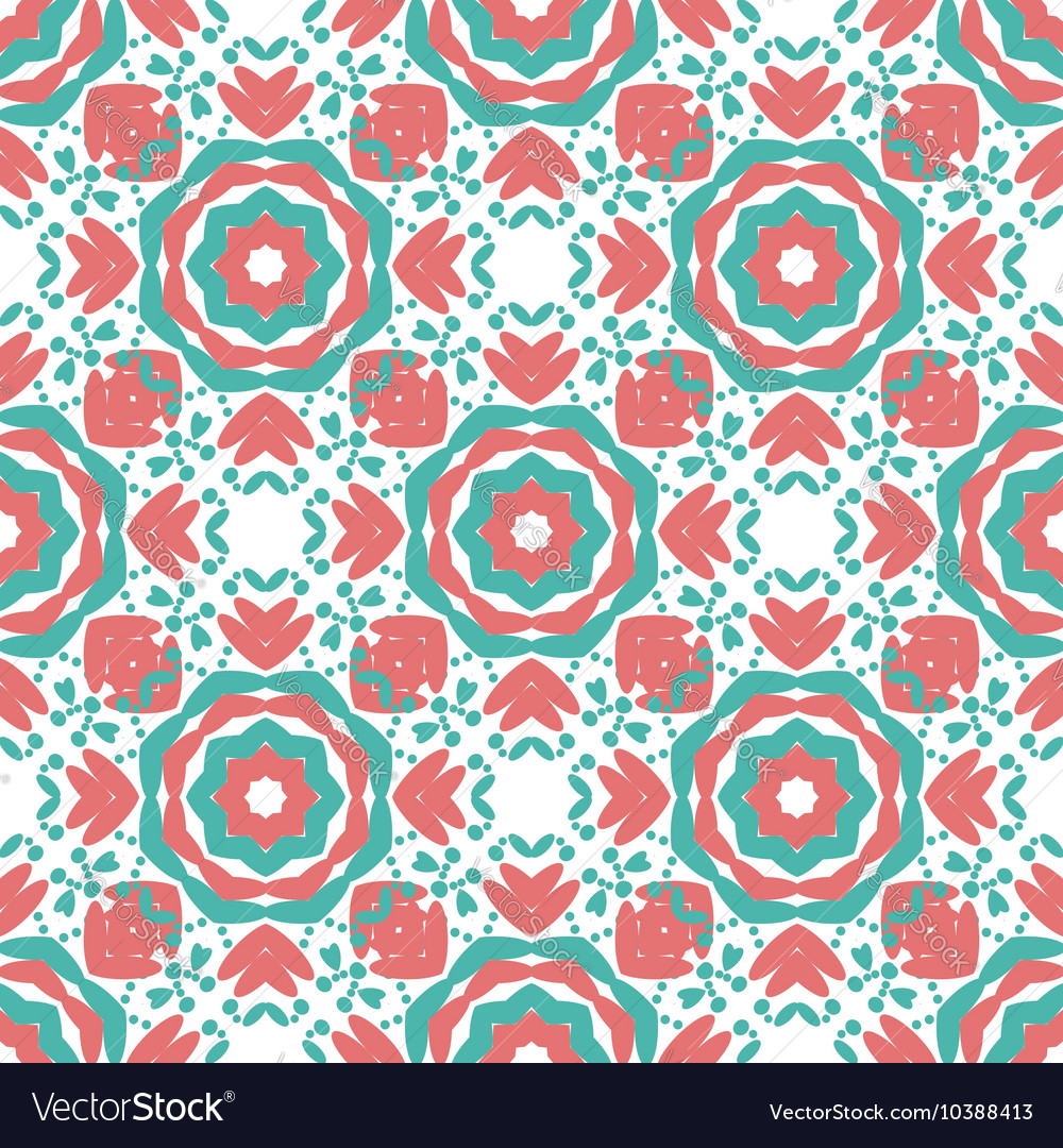 colorful geometric designs floral