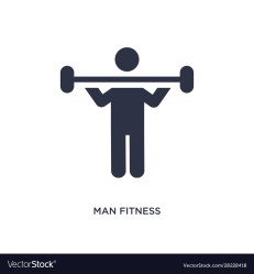 Man fitness icon on white background simple Vector Image