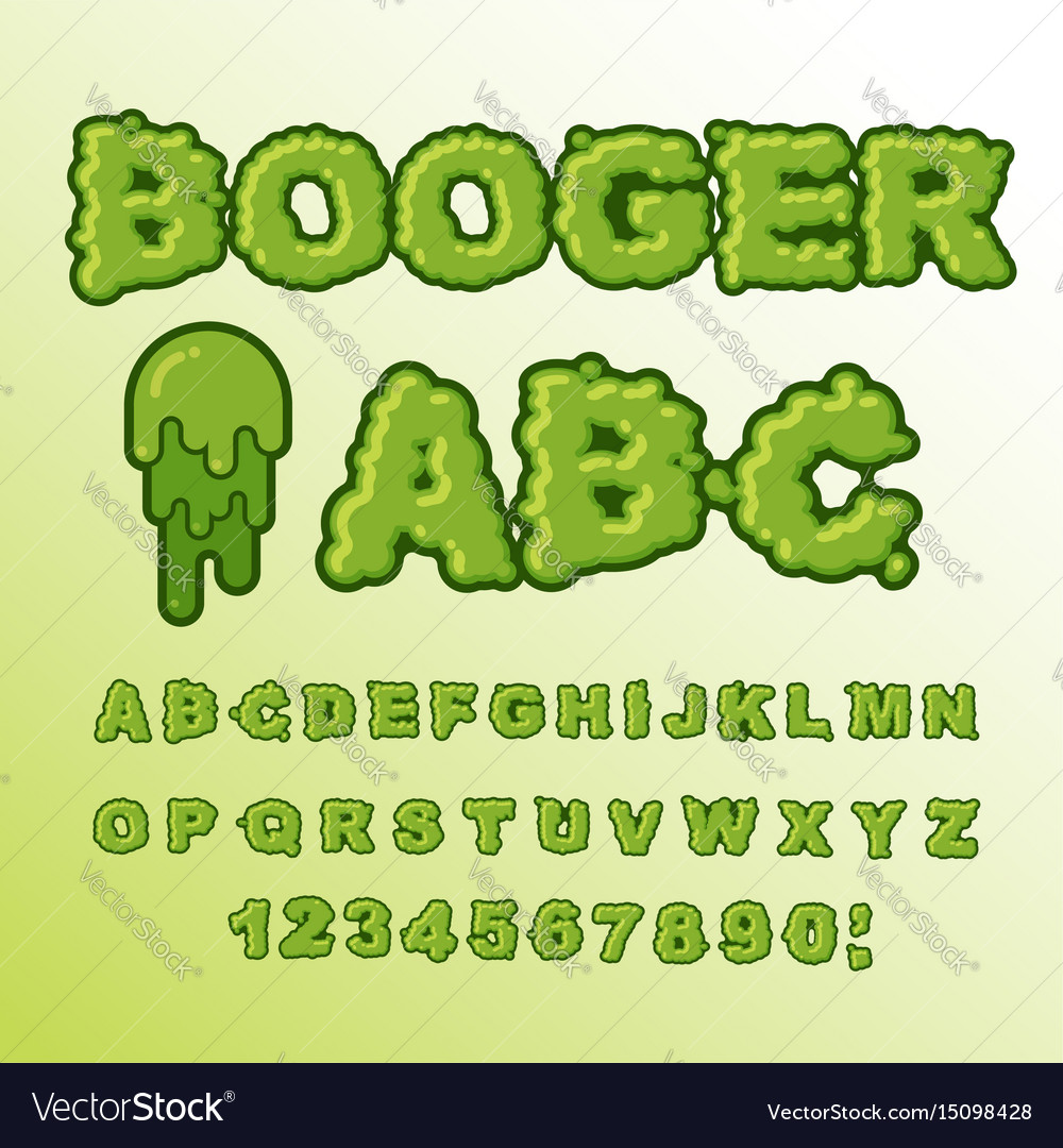 booger abc green slime