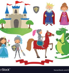 set of fairy tale character vector image [ 1000 x 849 Pixel ]