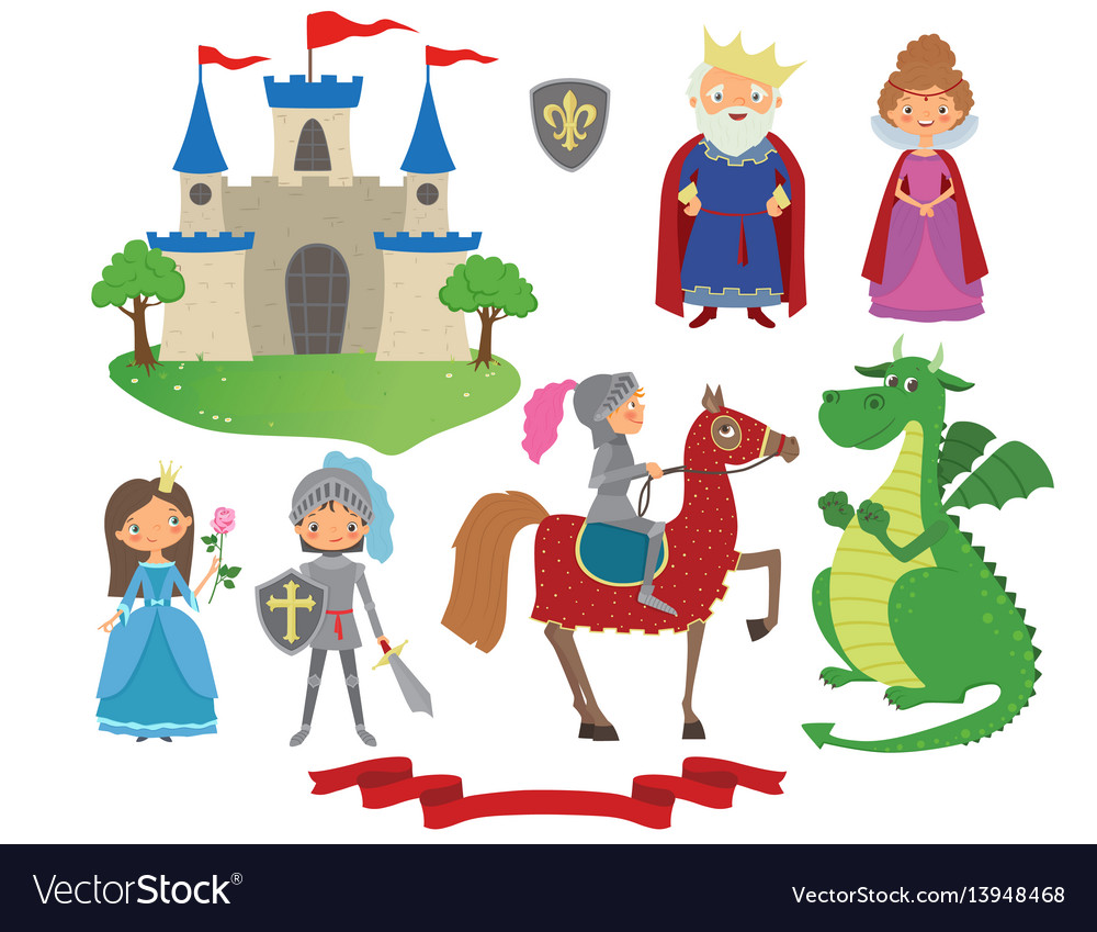 hight resolution of set of fairy tale character vector image