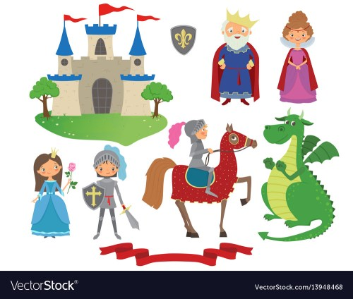 small resolution of set of fairy tale character vector image