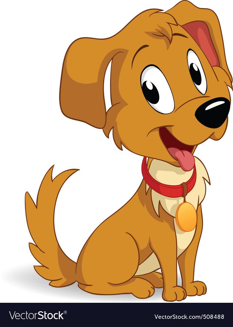 cute cartoon vector puppy