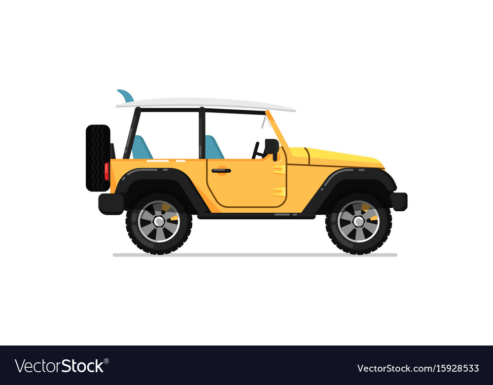 off road jeep isolated