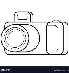 camera line art simple gadget icon vector image [ 1000 x 879 Pixel ]