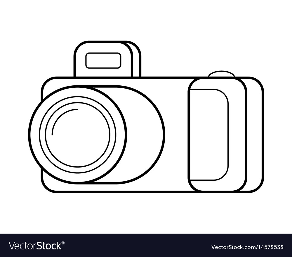 medium resolution of camera line art simple gadget icon vector image