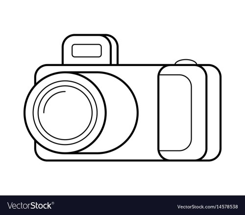 small resolution of camera line art simple gadget icon vector image