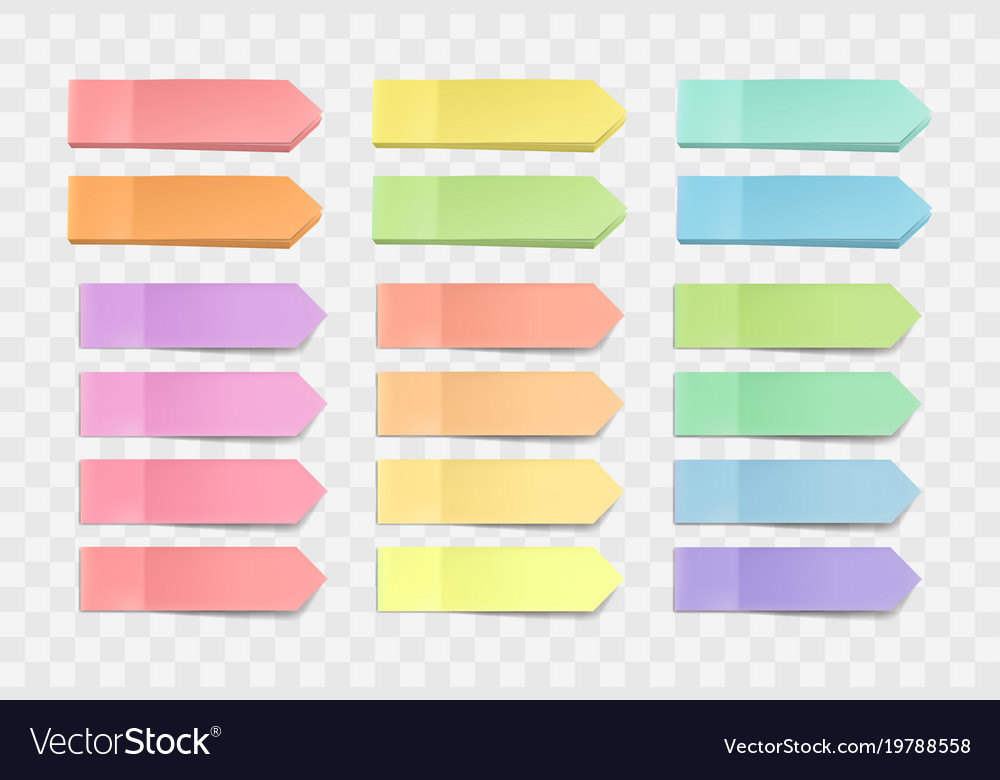 bright sticky notes pack