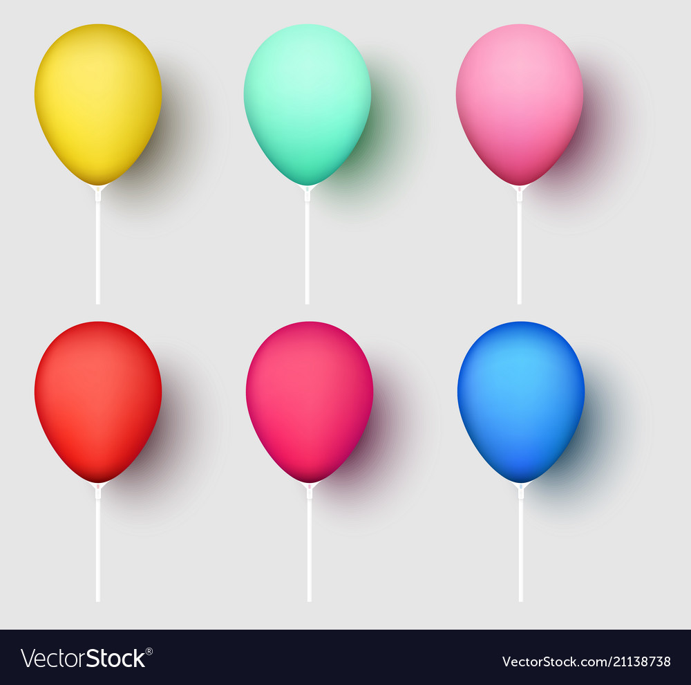 colorful realistic 3d balloons