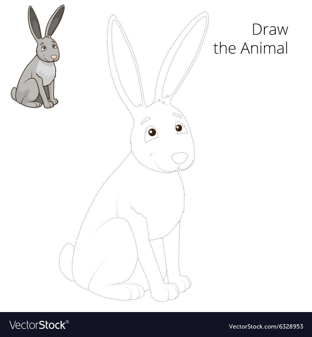 I can already animate and draw in flash, but i dont know how to draw an anyglyph. Draw The Forest Animal Hare Cartoon Royalty Free Vector