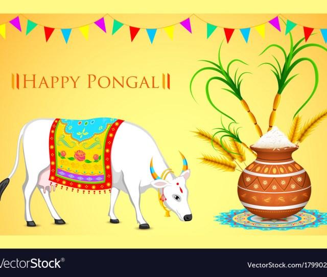 Happy Pongal Royalty Free Vector Image Vectorstock