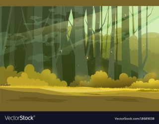 Sunny forest background of Royalty Free Vector Image
