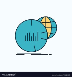 big chart data world infographic flat icon green vector imageworld diagram icon 4 [ 1000 x 1080 Pixel ]