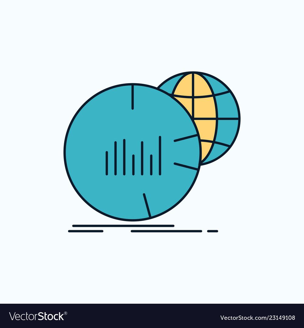 hight resolution of big chart data world infographic flat icon green vector imageworld diagram icon 4
