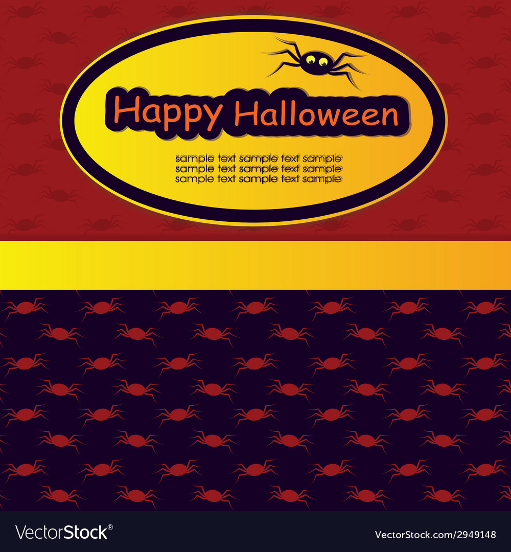 Halloween Template Frame Vector Image