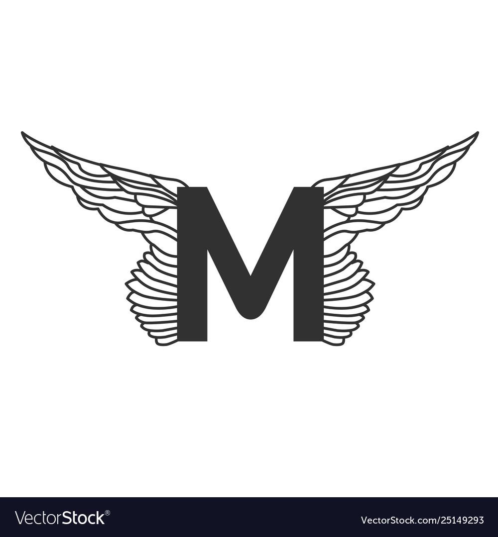 elegant dynamic letter m