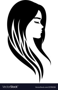 Logo for a beauty salon or procedures for hair Vector Image