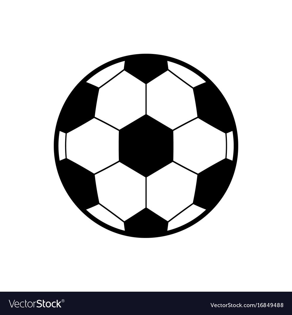 Soccer Ball Icon Icon Cartoon Royalty Free Vector Image