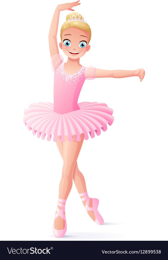 cute smiling young dancing