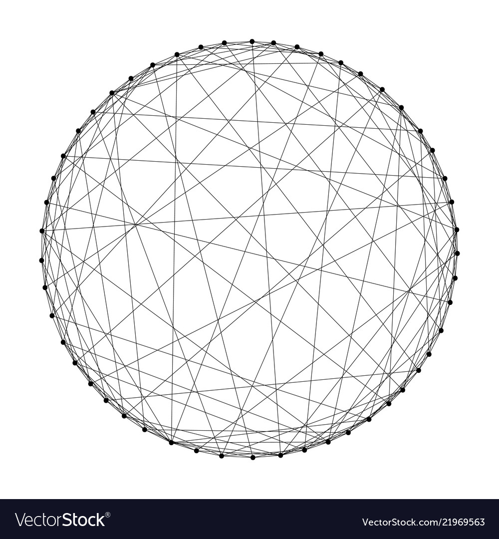wireframe sphere from abstract
