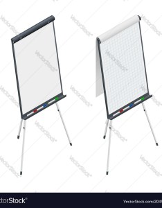 also isometric blank flip chart whiteboard and empty vector image rh vectorstock