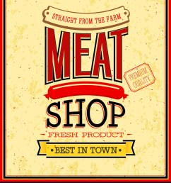meat shop design vector image [ 874 x 1080 Pixel ]
