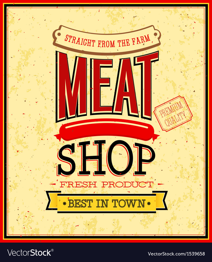 hight resolution of meat shop design vector image