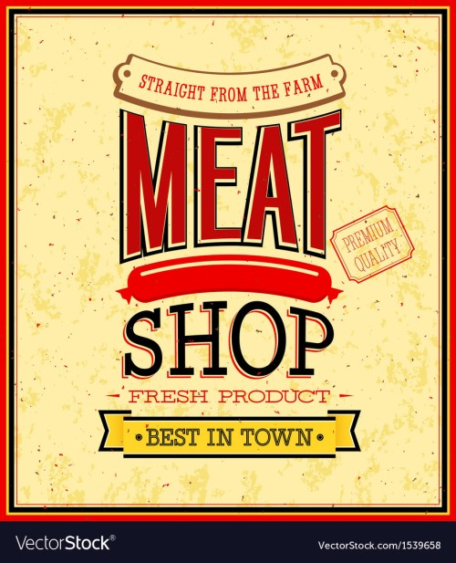 small resolution of meat shop design vector image