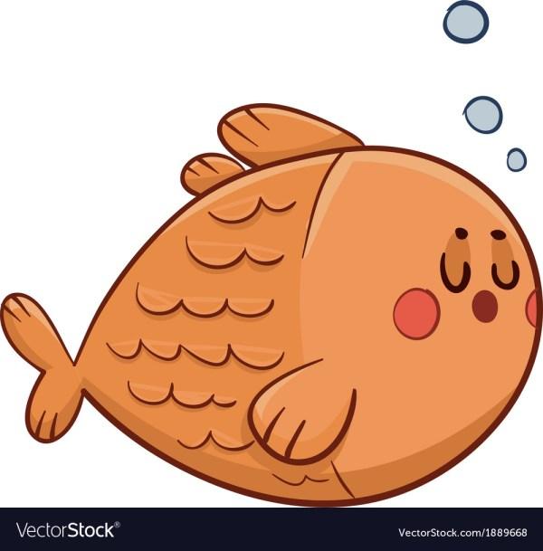 Cute Fish Swimming Royalty Free Vector - Vectorstock