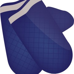 Kitchen Mittens Shoes Non Slip Blue Royalty Free Vector Image