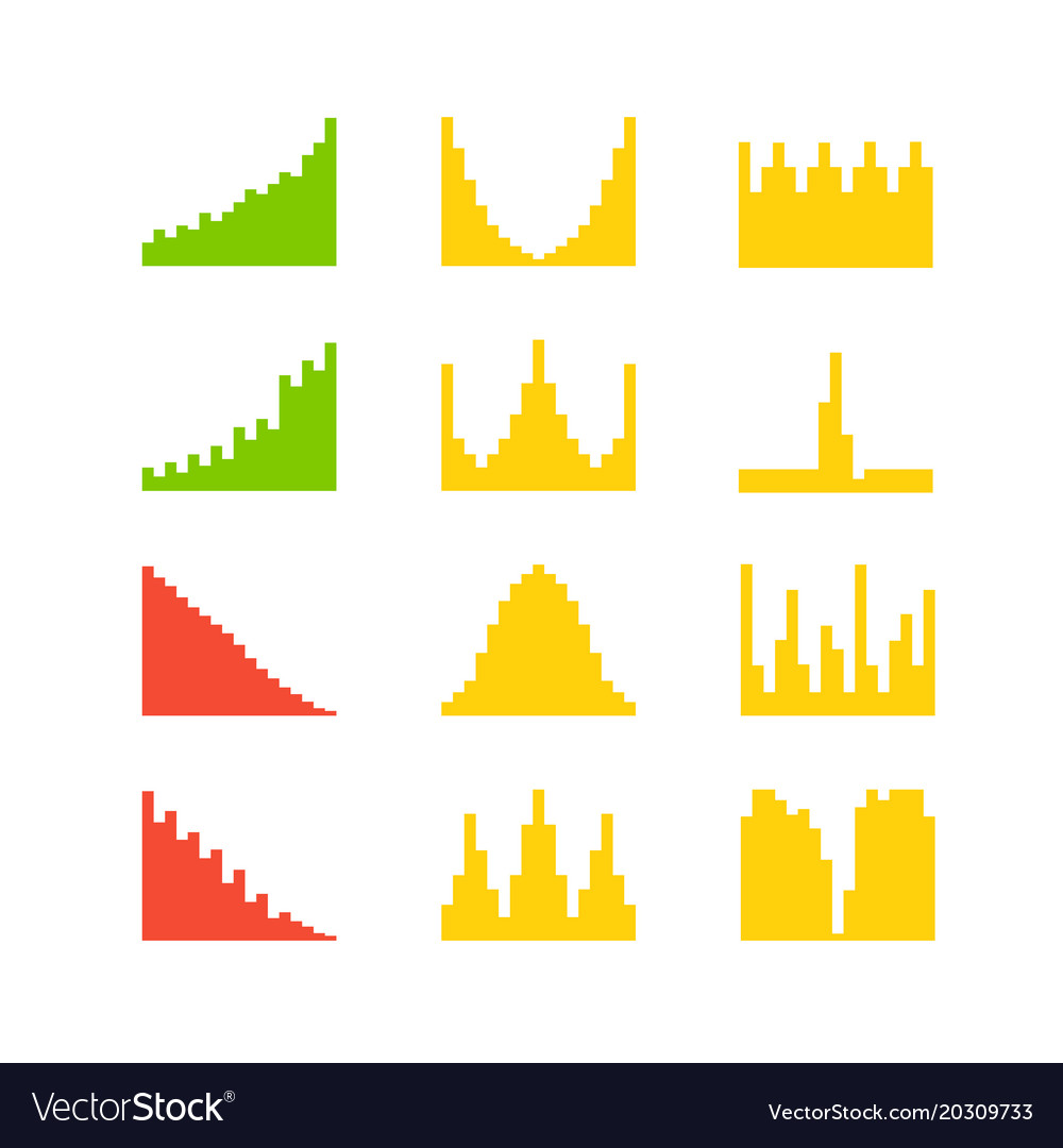 hight resolution of graphic business charts clipart vector image