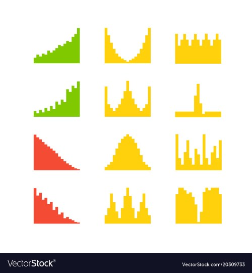 small resolution of graphic business charts clipart vector image