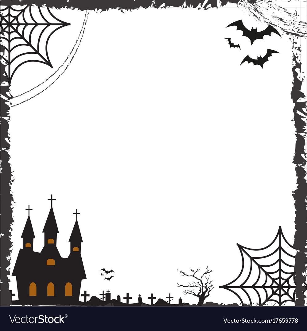 halloween square frame for