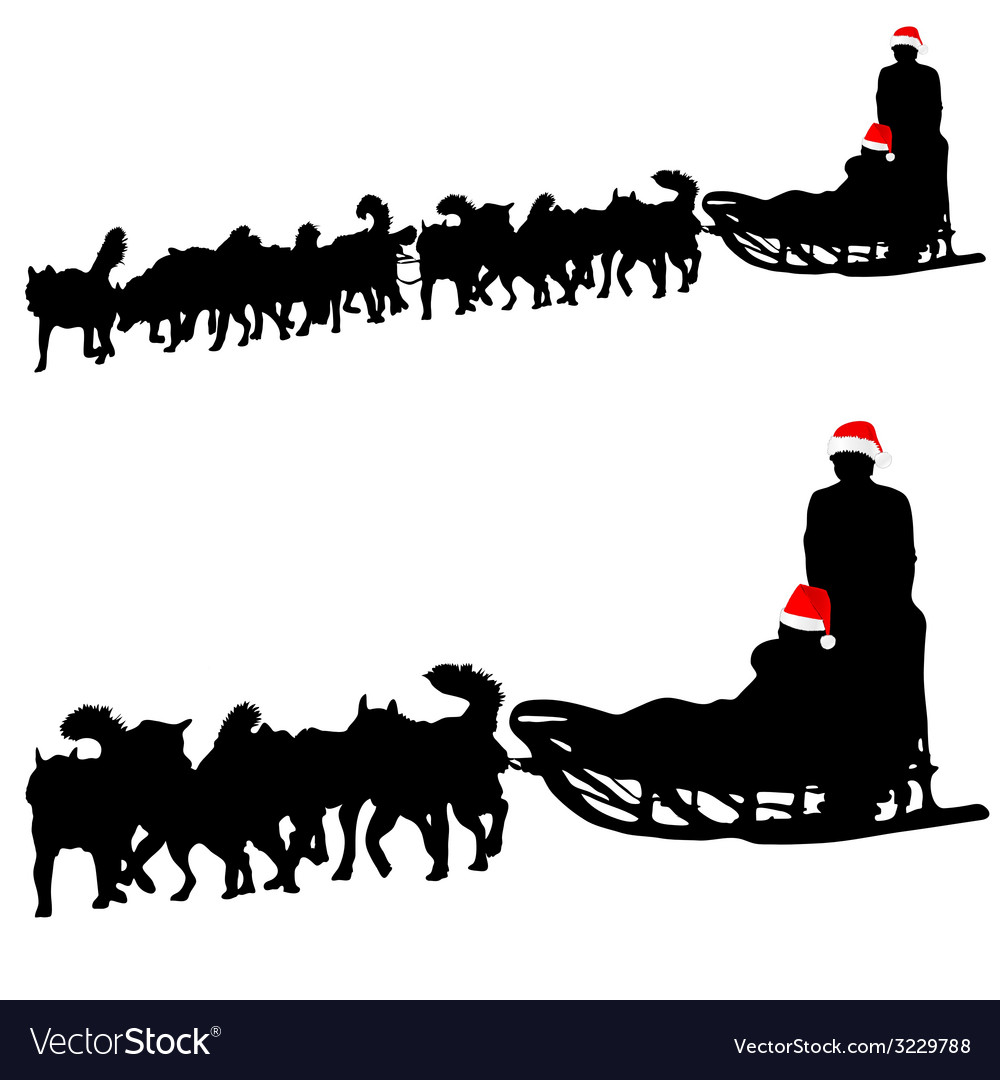 hight resolution of dog sled clipart
